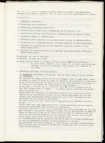 Notulen van de gemeenteraad van Leeuwarderadeel 1966-09-06