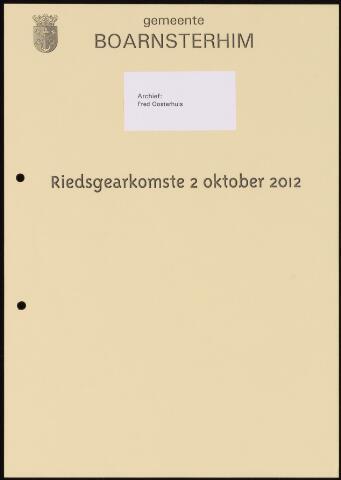 Boarnsterhim vergaderstukken gemeenteraad  2012-10-02