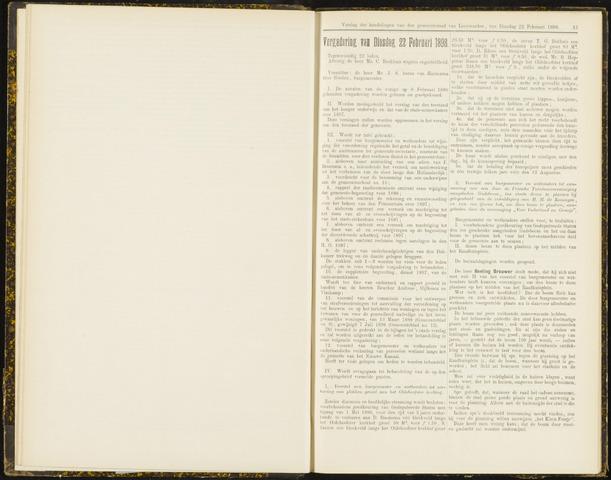 Raadsverslagen van de gemeente Leeuwarden, 1865-2007 (Notulen) 1898-02-22