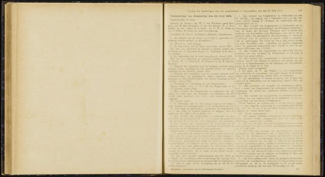 Raadsverslagen van de gemeente Leeuwarden, 1865-2007 (Notulen) 1884-07-24