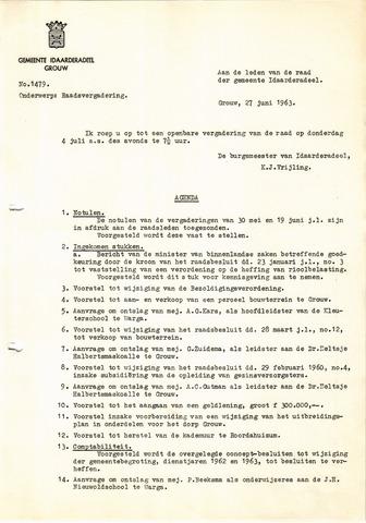 raadsverslagen Idaarderadeel 1935-1983 1963-07-04