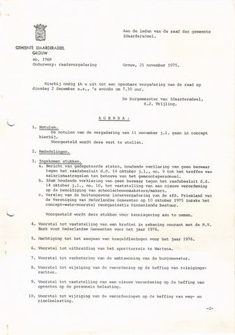 raadsverslagen Idaarderadeel 1935-1983 1975-12-02