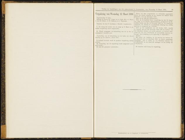 Raadsverslagen van de gemeente Leeuwarden, 1865-2007 (Notulen) 1890-03-12
