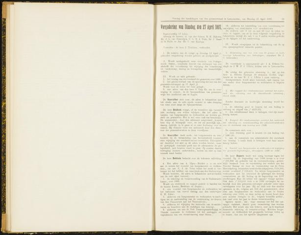 Raadsverslagen van de gemeente Leeuwarden, 1865-2007 (Notulen) 1897-04-27