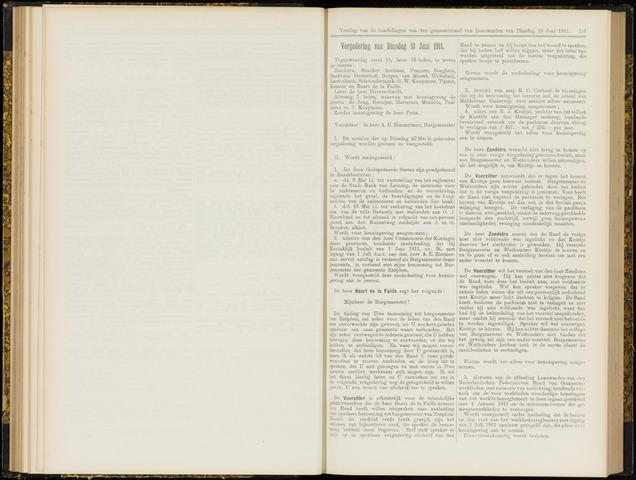 Raadsverslagen van de gemeente Leeuwarden, 1865-2007 (Notulen) 1911-06-13