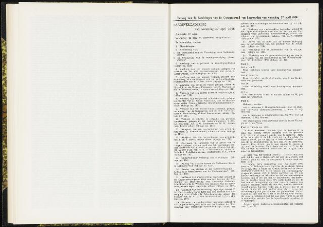 Raadsverslagen van de gemeente Leeuwarden, 1865-2007 (Notulen) 1966-04-27