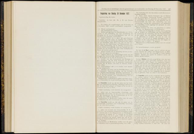 Raadsverslagen van de gemeente Leeuwarden, 1865-2007 (Notulen) 1927-12-20