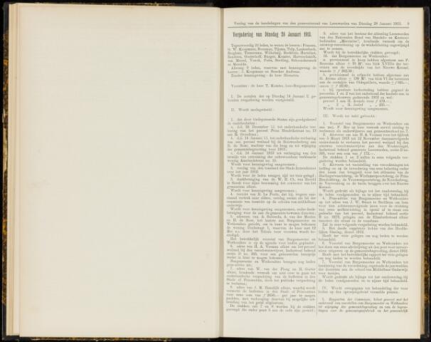 Raadsverslagen van de gemeente Leeuwarden, 1865-2007 (Notulen) 1913-01-28