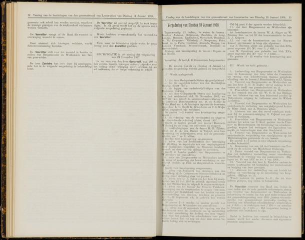 Raadsverslagen van de gemeente Leeuwarden, 1865-2007 (Notulen) 1908-01-28