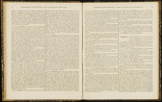 Raadsverslagen van de gemeente Leeuwarden, 1865-2007 (Notulen) 1868-03-26