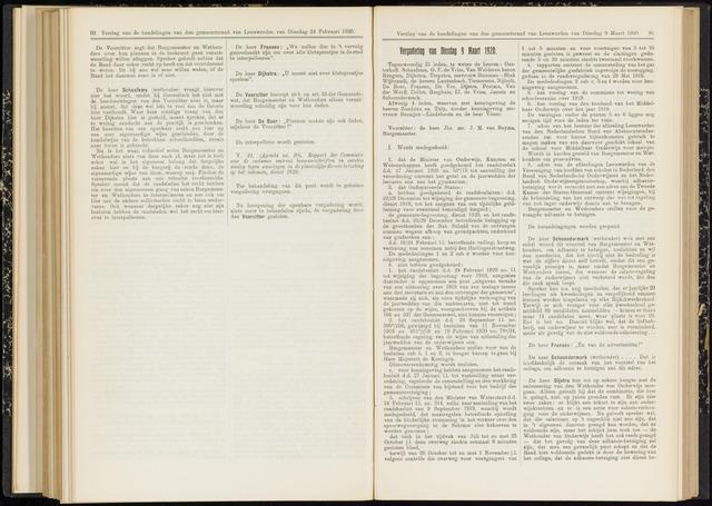 Raadsverslagen van de gemeente Leeuwarden, 1865-2007 (Notulen) 1920-03-09