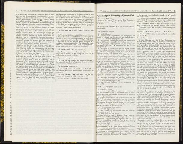 Raadsverslagen van de gemeente Leeuwarden, 1865-2007 (Notulen) 1949-01-26
