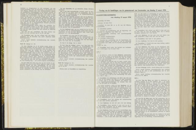 Raadsverslagen van de gemeente Leeuwarden, 1865-2007 (Notulen) 1956-03-13