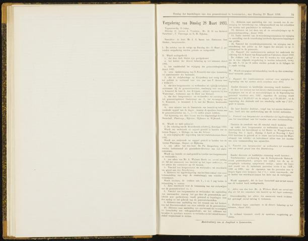 Raadsverslagen van de gemeente Leeuwarden, 1865-2007 (Notulen) 1893-03-28