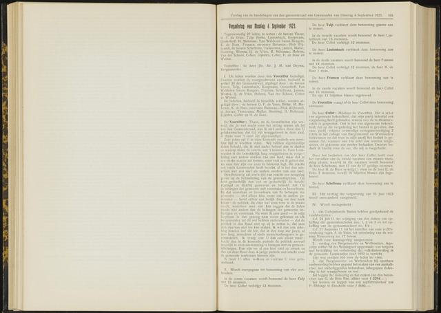 Raadsverslagen van de gemeente Leeuwarden, 1865-2007 (Notulen) 1923-09-04