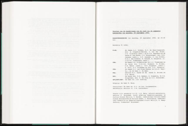 Raadsverslagen van de gemeente Leeuwarden, 1865-2007 (Notulen) 1992-09-28