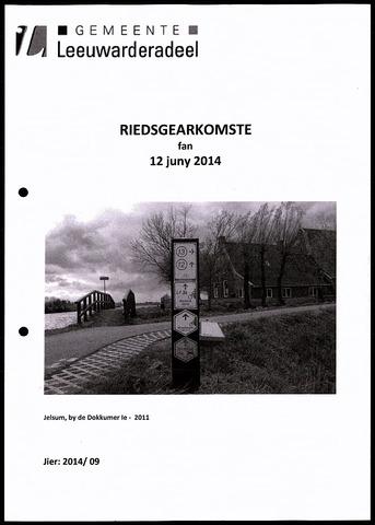Notulen van de gemeenteraad van Leeuwarderadeel 2014-06-12