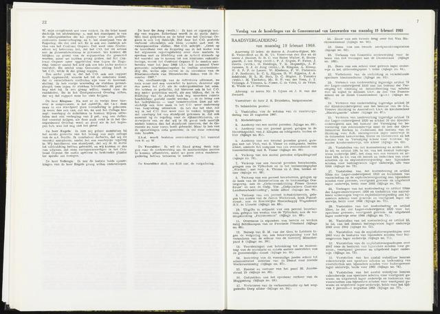 Raadsverslagen van de gemeente Leeuwarden, 1865-2007 (Notulen) 1968-02-19