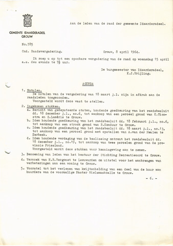 raadsverslagen Idaarderadeel 1935-1983 1964-04-13