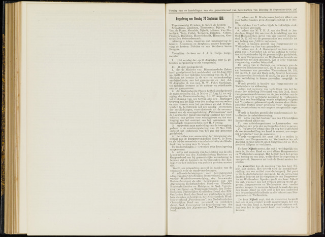 Raadsverslagen van de gemeente Leeuwarden, 1865-2007 (Notulen) 1918-09-24