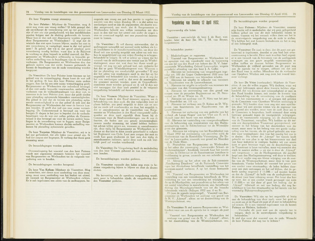 Raadsverslagen van de gemeente Leeuwarden, 1865-2007 (Notulen) 1932-04-12