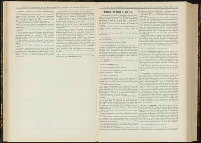 Raadsverslagen van de gemeente Leeuwarden, 1865-2007 (Notulen) 1922-04-25