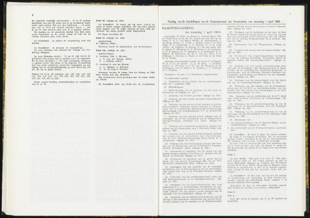 Raadsverslagen van de gemeente Leeuwarden, 1865-2007 (Notulen) 1968-04-01