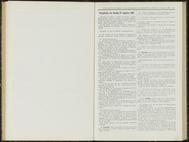 Raadsverslagen van de gemeente Leeuwarden, 1865-2007 (Notulen) 1906-08-28
