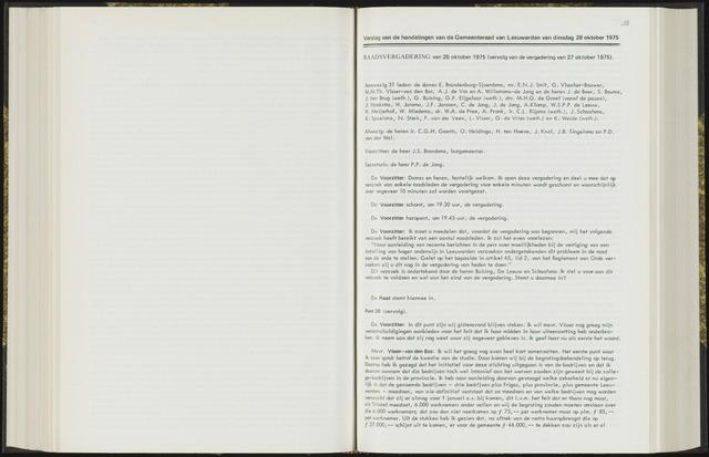 Raadsverslagen van de gemeente Leeuwarden, 1865-2007 (Notulen) 1975-10-28