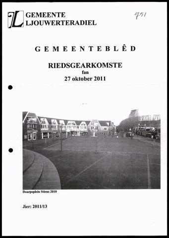 Notulen van de gemeenteraad van Leeuwarderadeel 2011-10-27