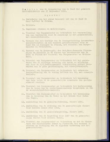 Notulen van de gemeenteraad van Leeuwarderadeel 1956-09-27