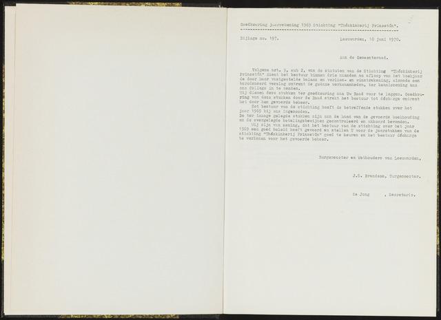 Raadsverslagen van de gemeente Leeuwarden, 1865-2007 (Bijlagen) 1970-01-01