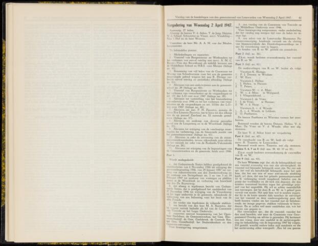 Raadsverslagen van de gemeente Leeuwarden, 1865-2007 (Notulen) 1947-04-02