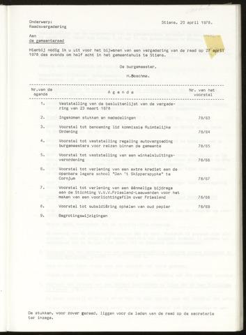 Notulen van de gemeenteraad van Leeuwarderadeel 1978-04-27
