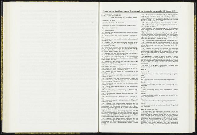 Raadsverslagen van de gemeente Leeuwarden, 1865-2007 (Notulen) 1967-10-30