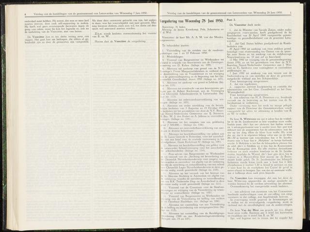 Raadsverslagen van de gemeente Leeuwarden, 1865-2007 (Notulen) 1950-06-28