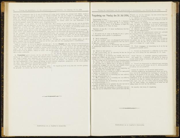 Raadsverslagen van de gemeente Leeuwarden, 1865-2007 (Notulen) 1894-07-24