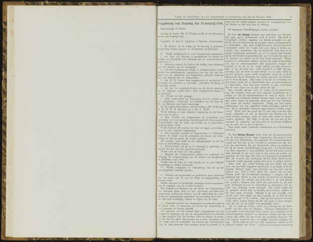 Raadsverslagen van de gemeente Leeuwarden, 1865-2007 (Notulen) 1886-01-26