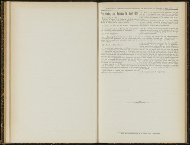 Raadsverslagen van de gemeente Leeuwarden, 1865-2007 (Notulen) 1900-04-14