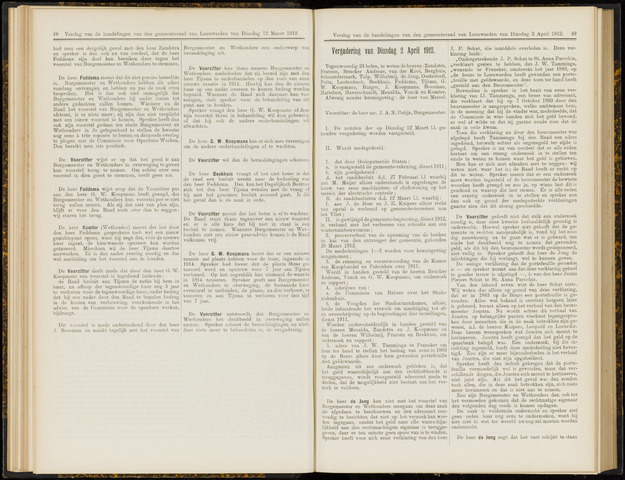 Raadsverslagen van de gemeente Leeuwarden, 1865-2007 (Notulen) 1912-04-02