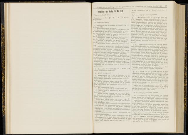 Raadsverslagen van de gemeente Leeuwarden, 1865-2007 (Notulen) 1928-05-15