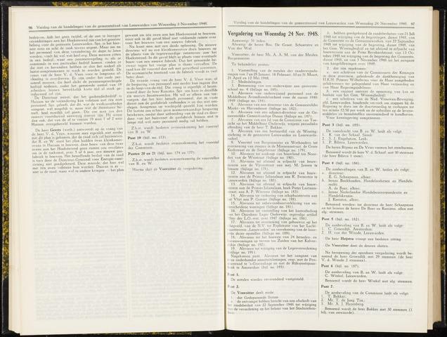 Raadsverslagen van de gemeente Leeuwarden, 1865-2007 (Notulen) 1948-11-24