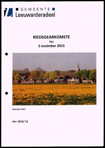 Notulen van de gemeenteraad van Leeuwarderadeel 2015-11-05