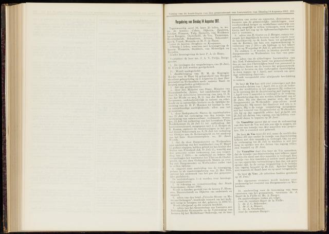 Raadsverslagen van de gemeente Leeuwarden, 1865-2007 (Notulen) 1917-08-14