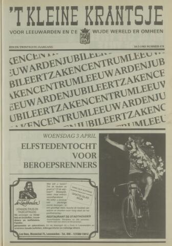 't Kleine Krantsje, 1964-1997 1985-03-30