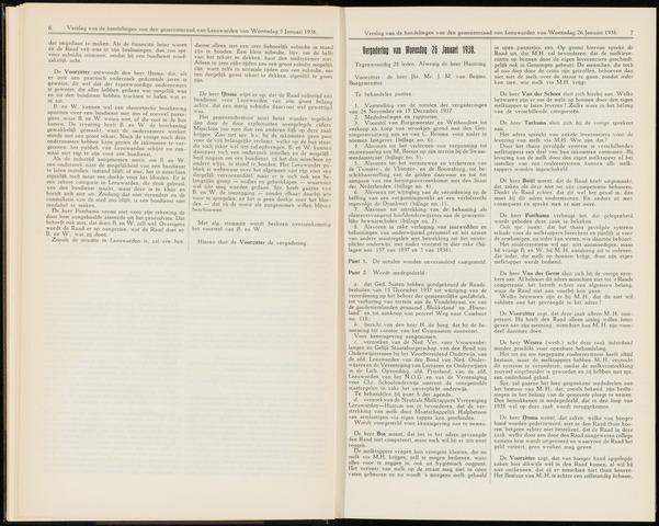 Raadsverslagen van de gemeente Leeuwarden, 1865-2007 (Notulen) 1938-01-26