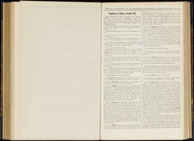 Raadsverslagen van de gemeente Leeuwarden, 1865-2007 (Notulen) 1918-12-03