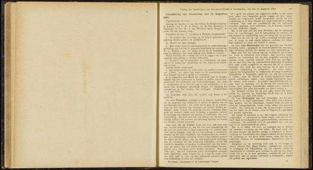 Raadsverslagen van de gemeente Leeuwarden, 1865-2007 (Notulen) 1884-08-14