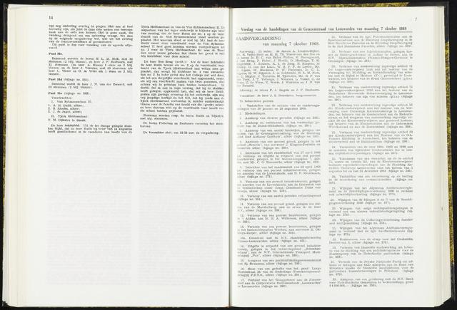 Raadsverslagen van de gemeente Leeuwarden, 1865-2007 (Notulen) 1968-10-07