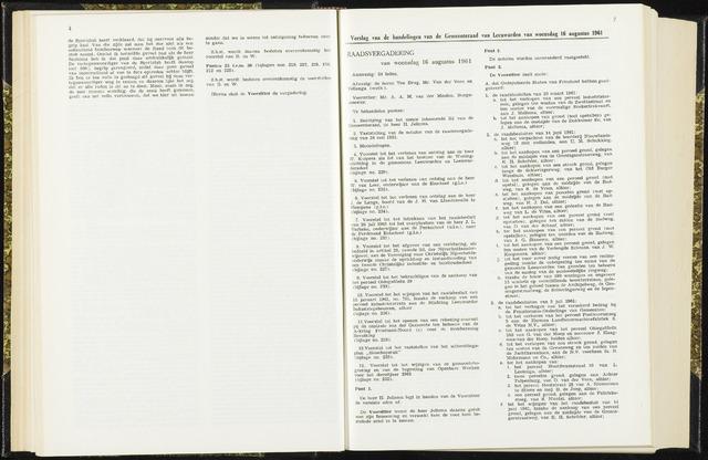 Raadsverslagen van de gemeente Leeuwarden, 1865-2007 (Notulen) 1961-08-16